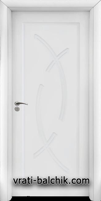 Интериорна HDF врата, модел 056-P Бял