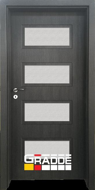 Интериорна HDF врата, модел Gradde Blomendal, Череша Сан Диего
