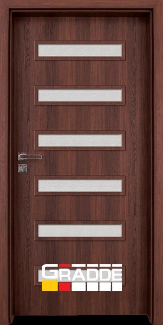 Интериорна HDF врата, модел Gradde Schwerin, Шведски дъб