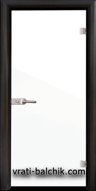 Стъклена интериорна врата модел Folio G 15-1 с каса Венге