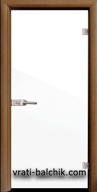 Стъклена интериорна врата модел Folio G 15-1 с каса Златен дъб