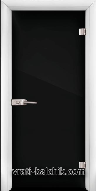 Стъклена интериорна врата модел Folio G 15-2 с каса Бяла