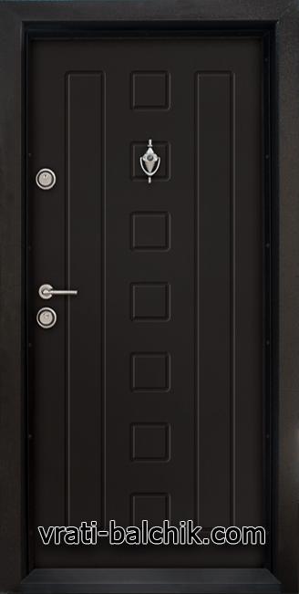 Блиндирана входна врата модел Т 712, цвят Африка