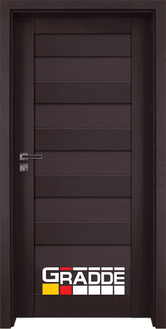 Интериорна HDF врата, модел Gradde Aaven Voll, Орех Рибейра