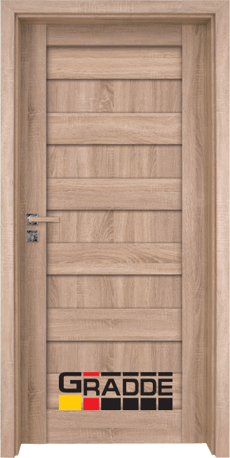 Интериорна HDF врата, модел Gradde Aaven Voll, Дъб Вераде