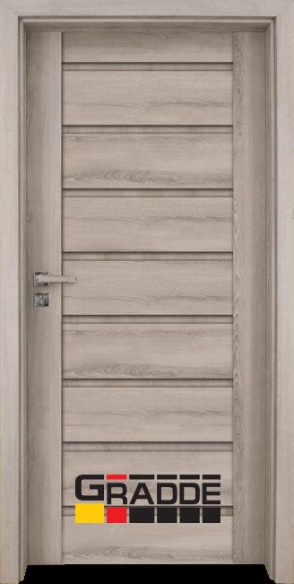 Интериорна HDF врата, модел Gradde Axel Voll, Ясен Вералинга