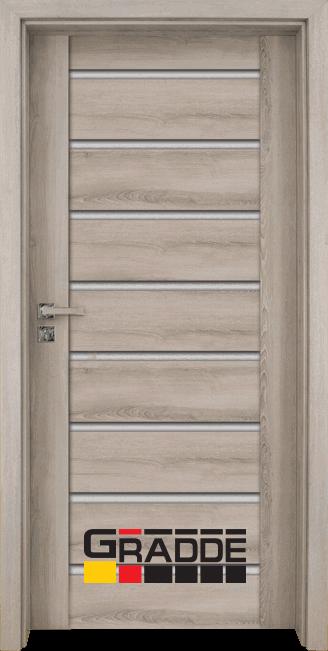 Интериорна HDF врата, модел Gradde Axel Glas, Ясен Вералинга