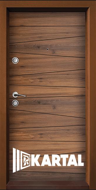 Блиндирана входна врата ТP-003, цвят Савана